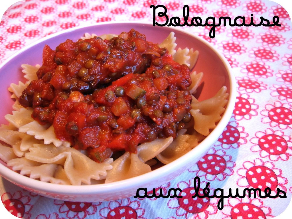 Bolognese sauce with vegetables