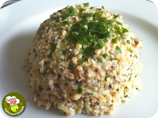 Bulgur zucchini risotto with sesame | Easy Vegan Recipes | AVSO.ORG