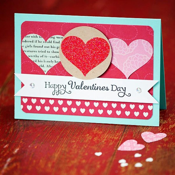32 ideas for handmade valentine 39 s day card interior for Valentine day card ideas