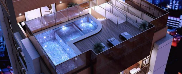 A stunning roof terrace design 15 rooftop pools that for Interior design rooftop terrace