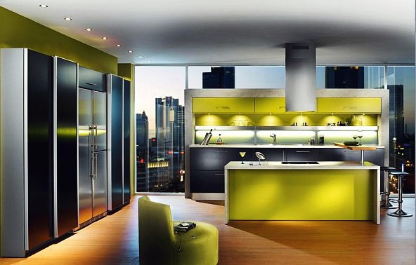 Beautiful kitchens color palette 14 amazing colorful for Modern green kitchen designs