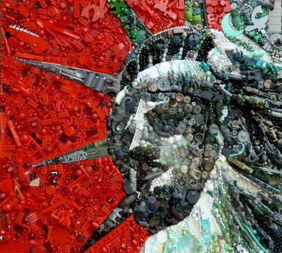 Contemporary art from recycled materials by jane perkins for Interior design from waste materials