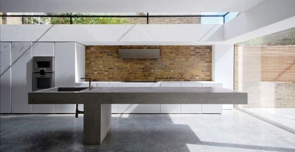 Countertop With Concrete Look Kitchen Countertops Made Of Concrete Advantages And