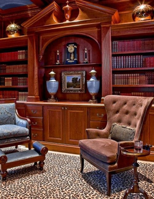 Interior Design Home Library: Elegant House Library -15 Fabulous Design Ideas