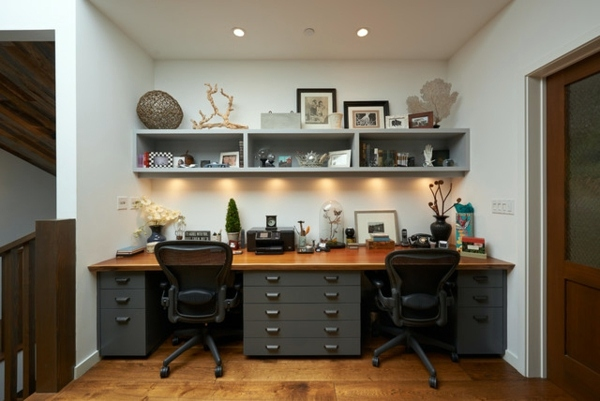 Home office design for two persons share you get your Shared office space design