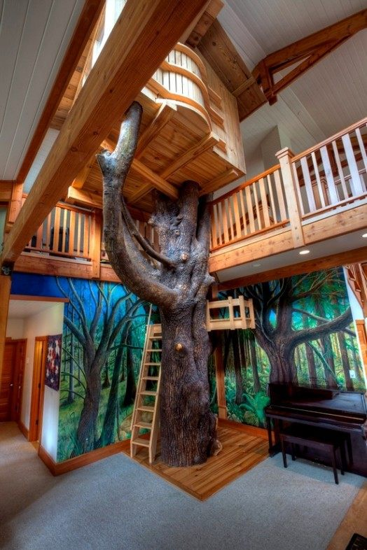 Amazing Interior Design Ideas For Home: Indoor Tree House – 10 Cool Ideas For Kids