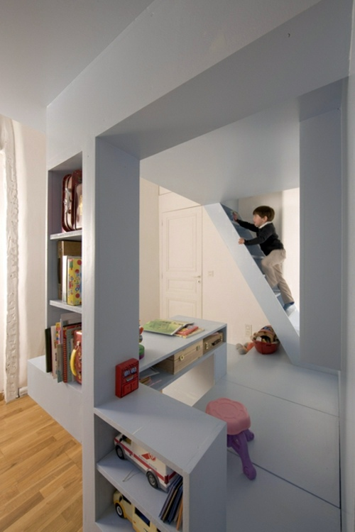Minimalist kids room design by h2o architects interior for Space design group architects and interior designers