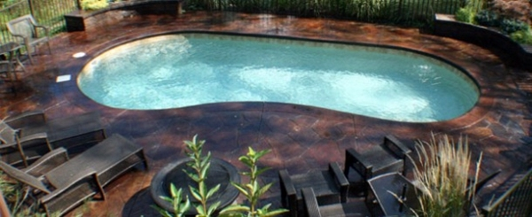 Pool in the garden 20 kidney shaped swimming pool for Knebel design pool ug