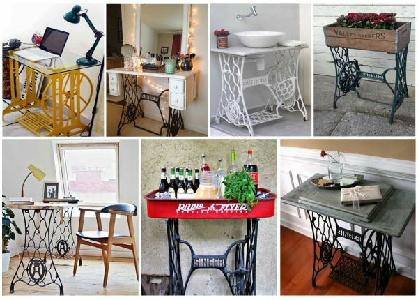 Redesign Old Furniture Use The Old Sewing Machine As