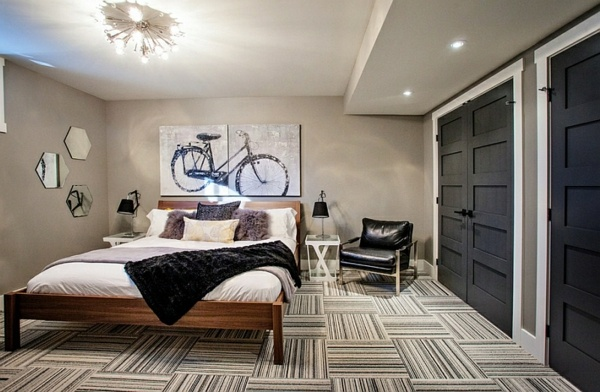 setting cozy bedroom in the basement interior design ideas avso