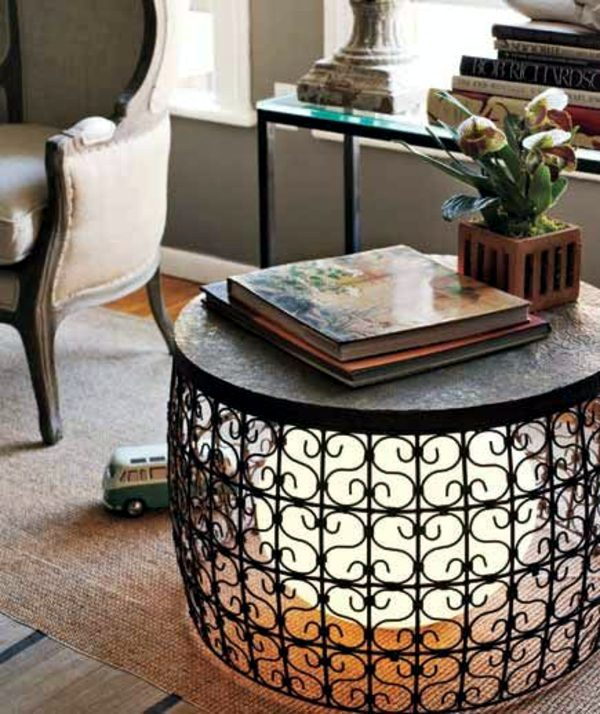 Metal Table With Integrated Lighting 40 Coffee Table Design Ideas   Your  Home Can Look Beautiful