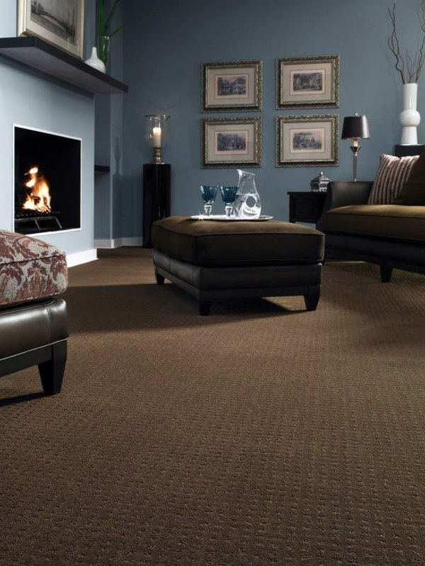 12 ideas on how to integrate a carpet in the living room interior
