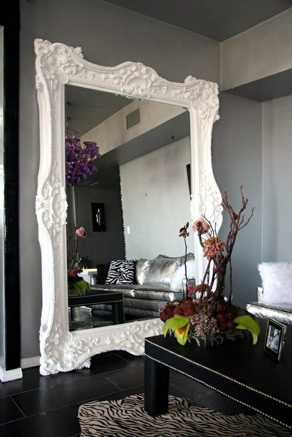 Classic White Mirror Designer Mirrors   Decorating Ideas With Shining  Accessories