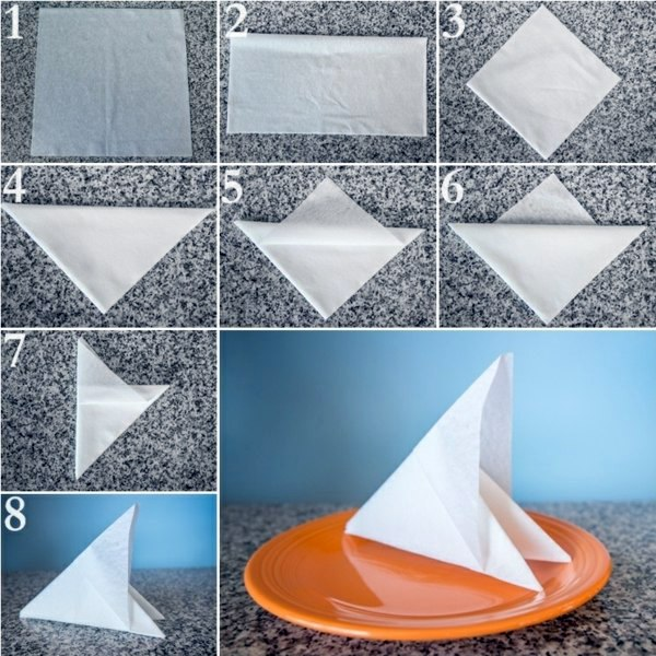 Paper napkin folding instructions create festive tischedeko fold the paper towels paper napkin folding instructions create festive tischedeko mightylinksfo