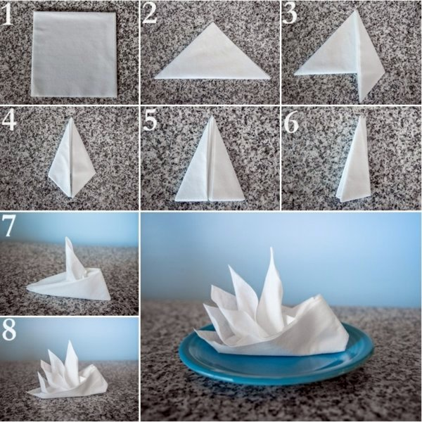 12 Napkin Folding Boat Paper Instructions
