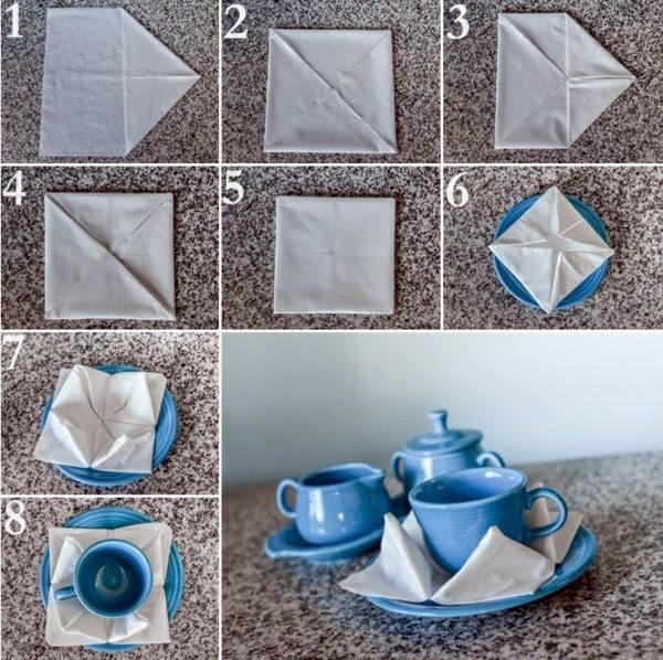 Paper napkin folding instructions create festive tischedeko 15 lotus flower paper napkin folding instructions create festive tischedeko mightylinksfo