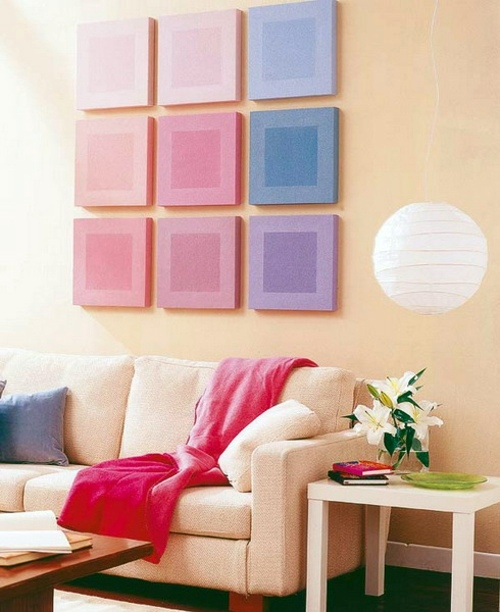 15 Ideas for exclusive wall decoration with squares | Interior ...
