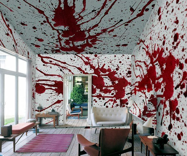 Halloween decoration ideas interior design ideas avso org for Cool wall patterns
