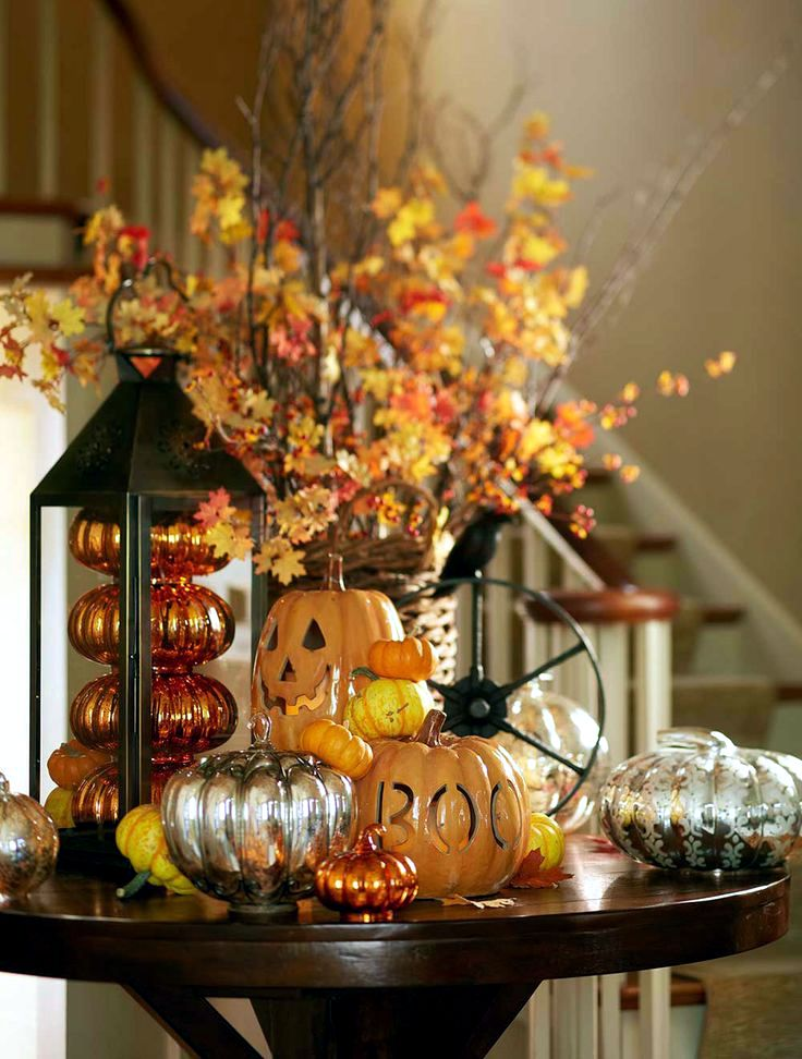 Halloween decoration ideas interior design ideas avso org - Pumpkin decorating ideas autumnal decor ...