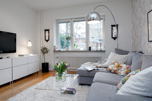 Interior Design Small Apartment In Sweden With A Trendy Style