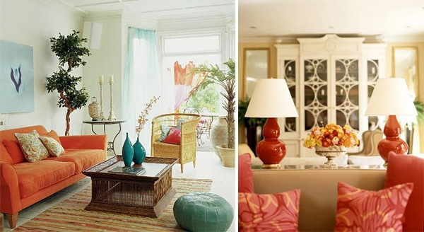 Orange interior design fresh bright ideas interior for Interior design living room orange