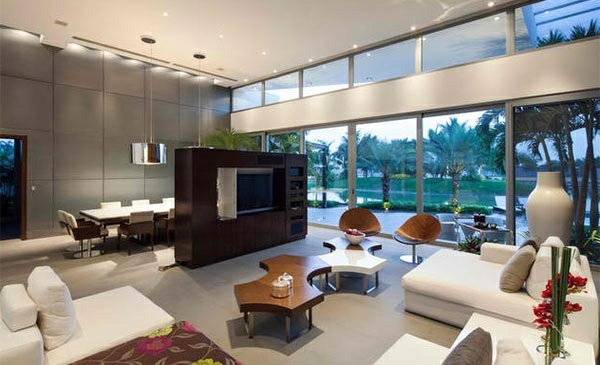 ... TV Room Wall In Modern Living Room   15 Inspiring Examples