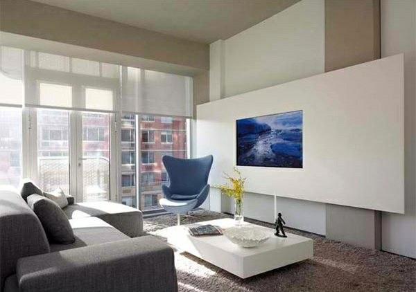Bon High Line Wohnzimmer Ideen   TV Room Wall In Modern Living Room   15  Inspiring Examples
