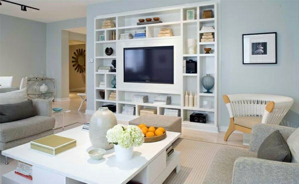 TV room wall in modern living room 15 Inspiring Examples