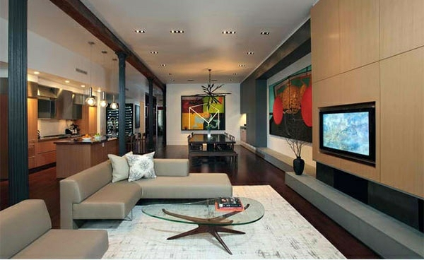 Soho Penthouse TV Room Wall In Modern Living Room   15 Inspiring Examples