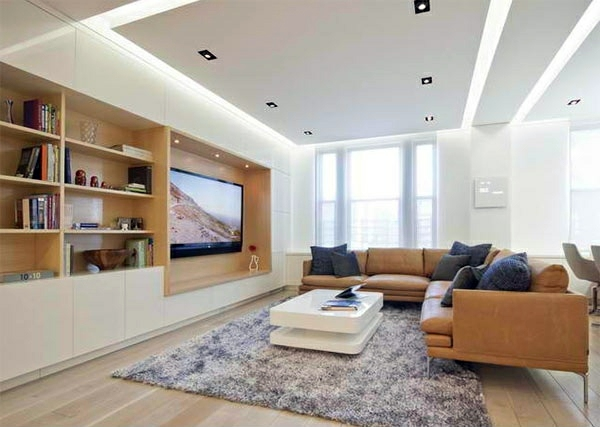 Tv Room Wall In Modern Living Room Inspiring Examples