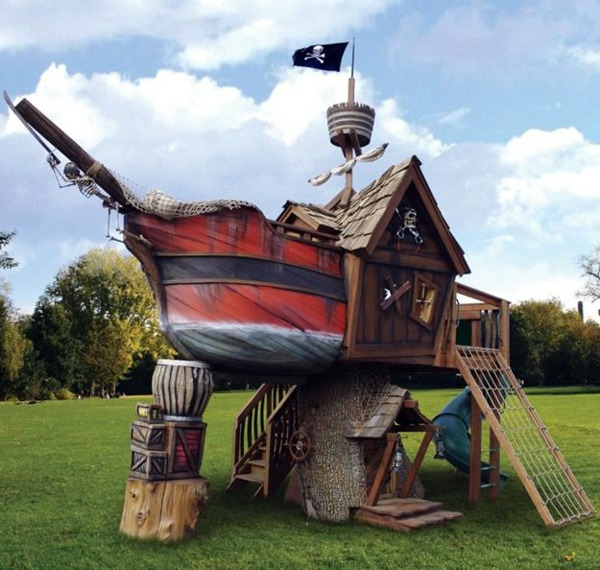 Gartenmöbel - A cool game tower pirate ship for your kids