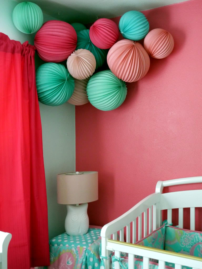 Baby room decorating ideas with paper lanterns interior - Paper decorations for room ...