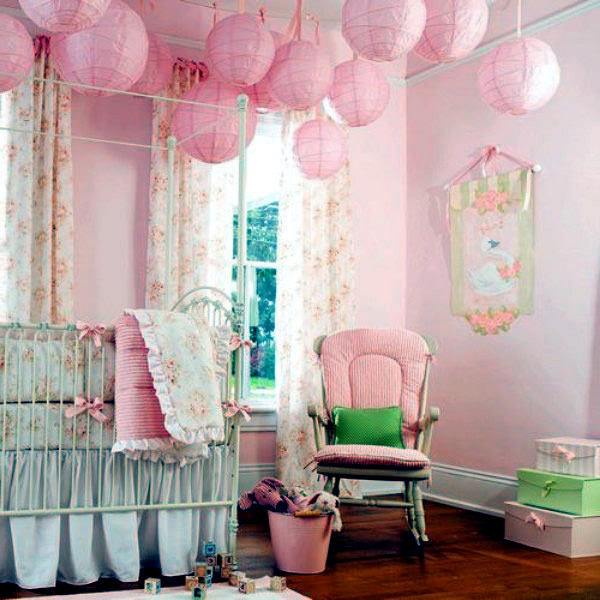 Baby Room Decorating Ideas With Paper Lanterns Interior Design AVSOORG