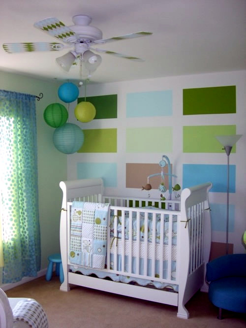 Modern Baby Nursery Design And Ideas: Baby Room Decorating Ideas With Paper Lanterns