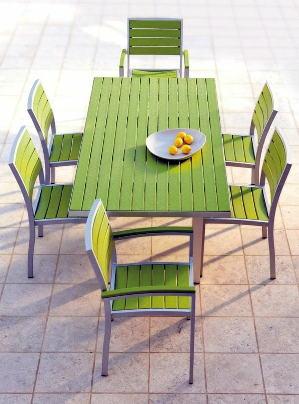Set Of Garden Furniture Made From Recycled Plastic Catering Outdoor  Furniture   Eat In Harmony With Nature