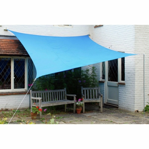 Terrace And Garden Sun Protection Ideas Use Solar Sails Awnings Interior Design