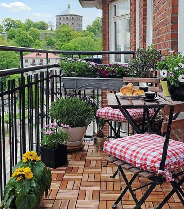 compact design balcony room furniture rattan and wood balcony design