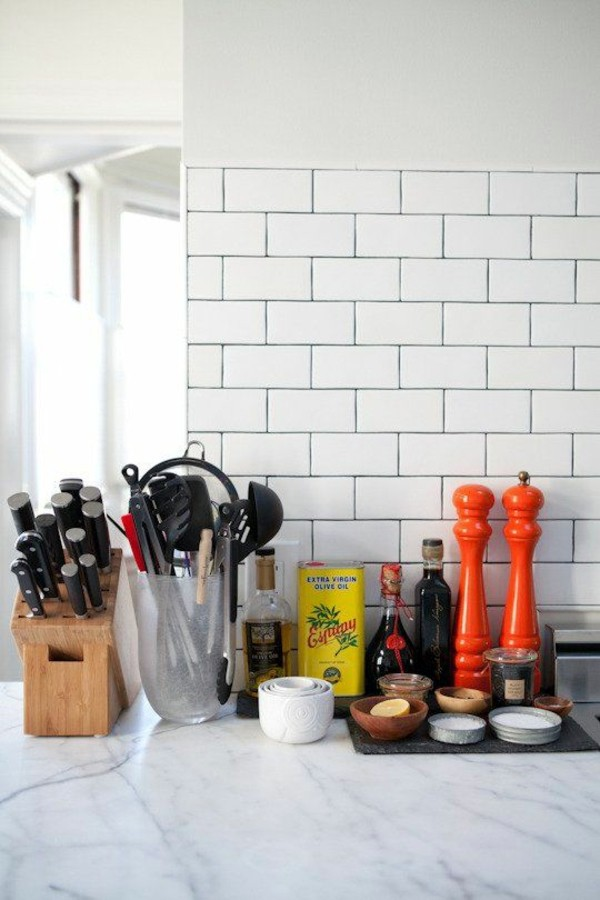 charming How To Clean Kitchen Tiles Walls #7: Full marble countertop tiles clean white wall Clean Porcelain Tiles - how to make with home remedies?
