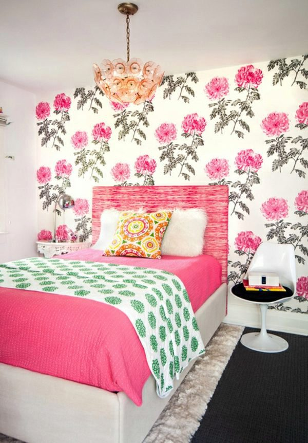 Fabric And Wallpaper With Floral Design