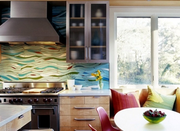 Contemporary   Beautiful Kitchen Back Wall   20 Cool Ideas For Your Kitchen
