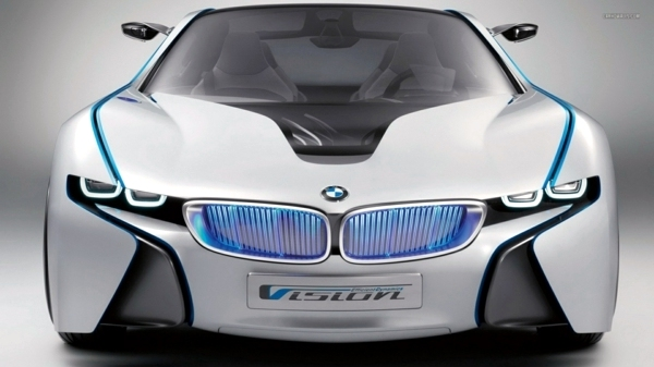 BMW i8 electric car  the new sports car and its influence on
