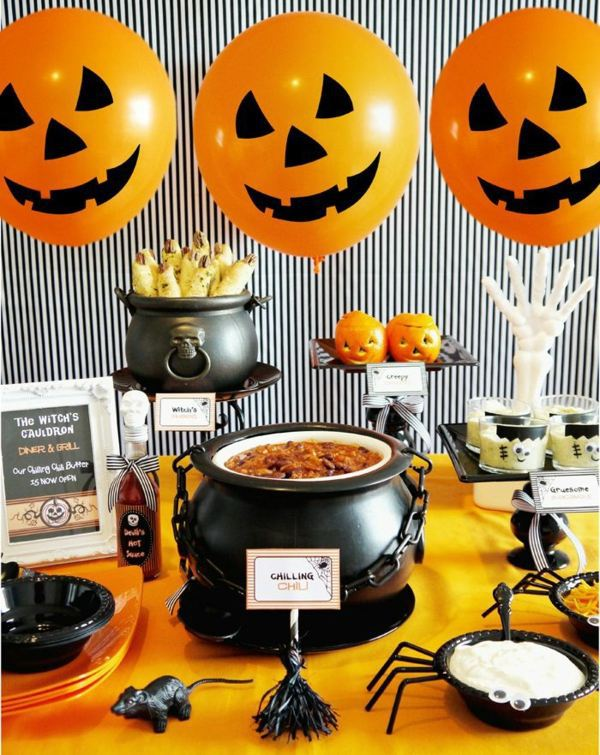 Halloween Themed Decorating Ideas Part - 49: Table Decorating Ideas For Halloween Halloween Deko - Halloween Decoration  Tinker And Create A Festive Mood