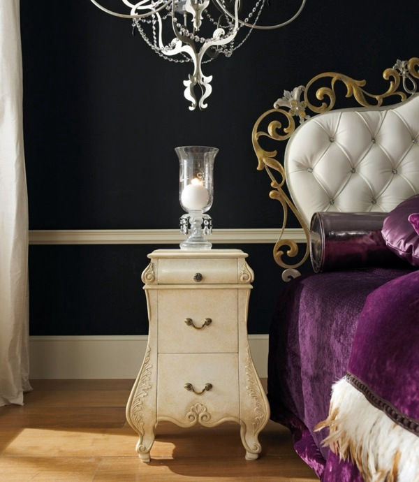 A Majestic Combination Of Purple, Cream And Gold. Luxury Interior Design ...