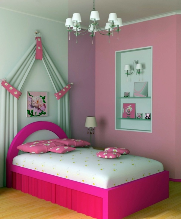 room interior color design. fashion bedroom wall color combination