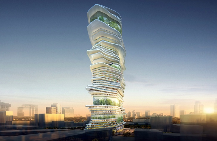 Architecture of the future an innovative project with for Modern high rise building design