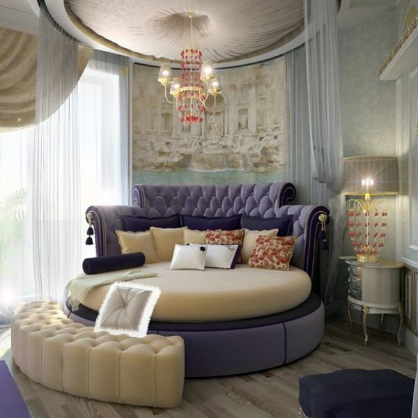 a round bed in the bedroom pro and conrta interior