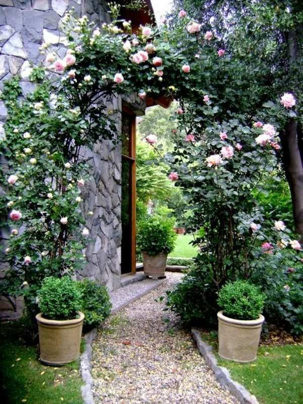 roses delicate garden landscaping with gravel and stones 25 garden ideas for you