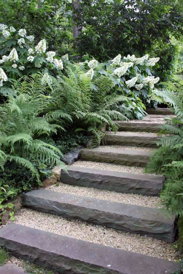 Stone Steps Landscaping With Gravel And Stones