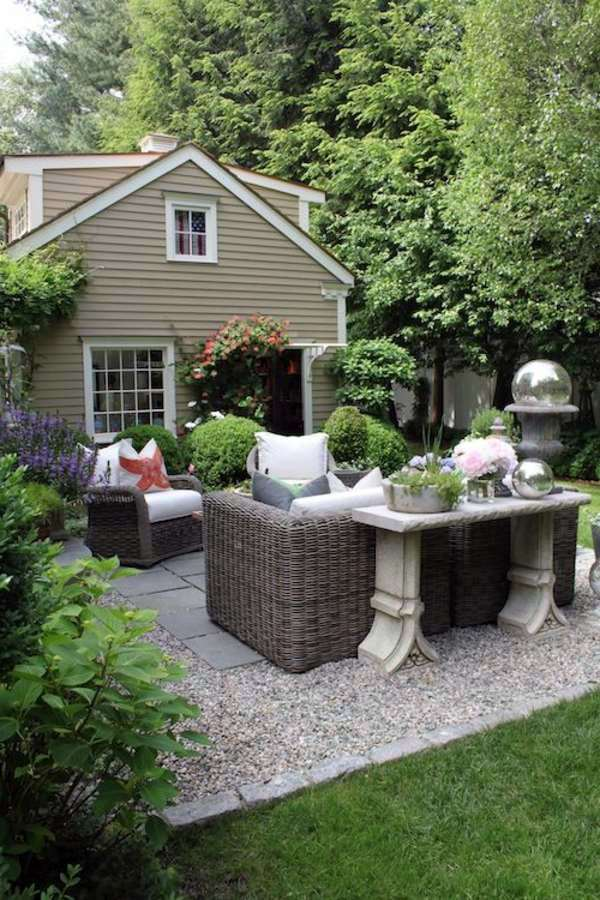 Garden Furniture On Gravel landscaping with gravel and stones – 25 garden ideas for you