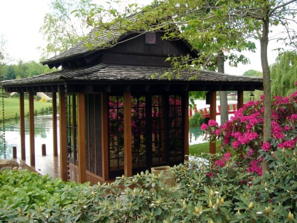 Modern cool garden shed designs unique architecture for Modern japanese tea house design